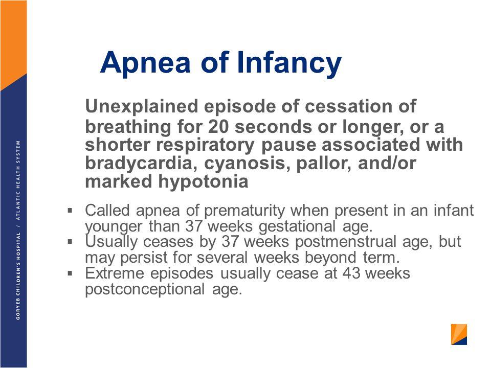Apnea of Infancy