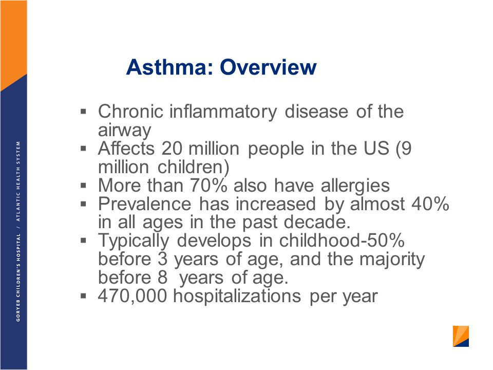 Asthma: Overview Chronic inflammatory disease of the airway