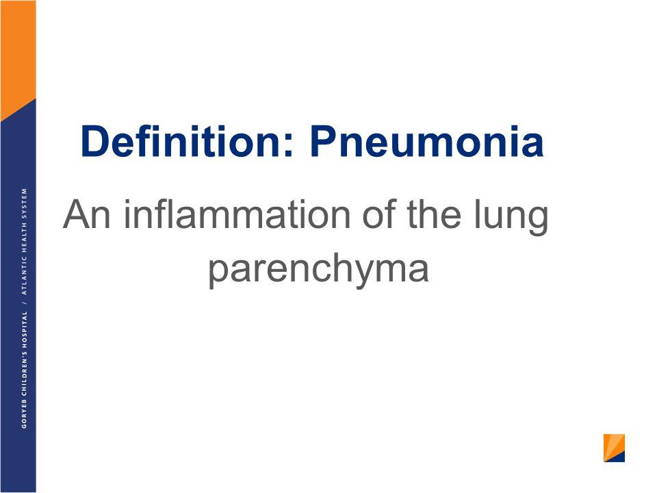 Definition: Pneumonia