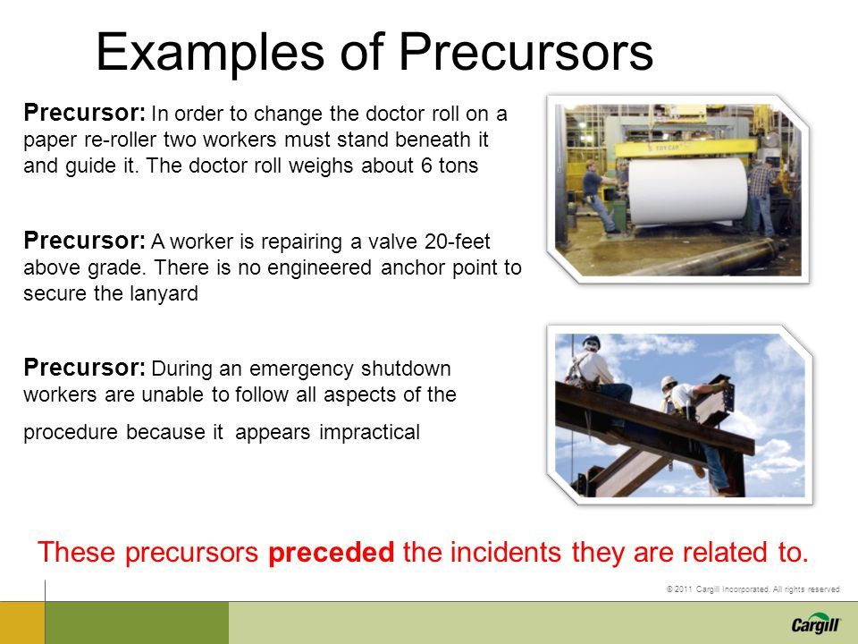 Examples of Precursors