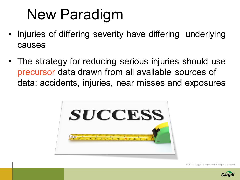New Paradigm Injuries of differing severity have differing underlying causes.