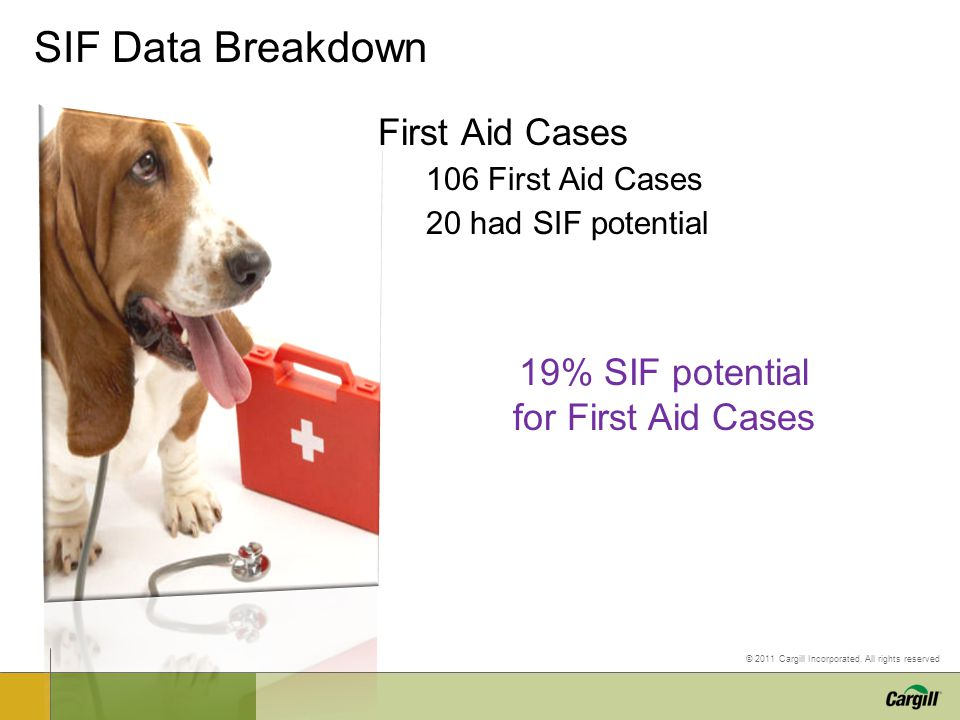 19% SIF potential for First Aid Cases