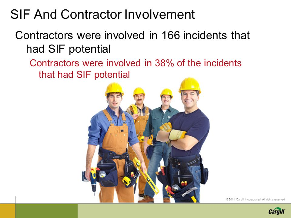 SIF And Contractor Involvement