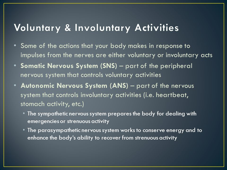 Voluntary & Involuntary Activities