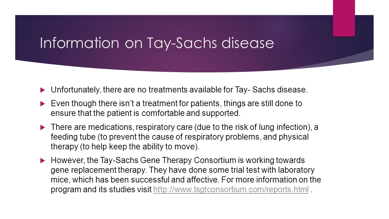 Information on Tay-Sachs disease