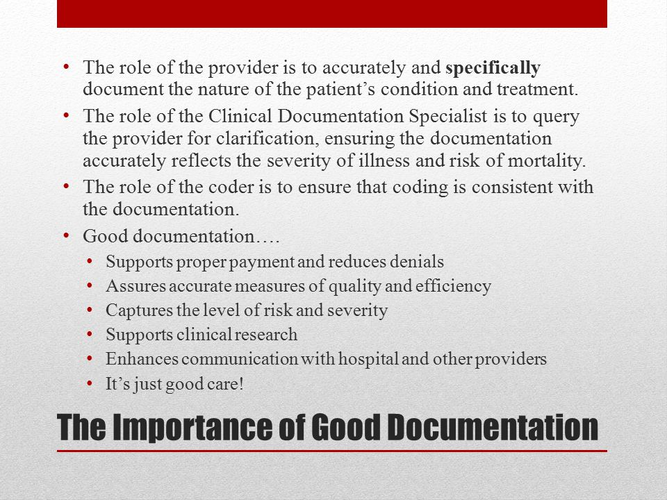 The Importance of Good Documentation