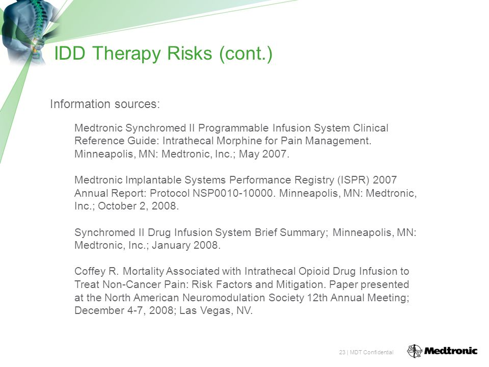 IDD Therapy Risks (cont.)
