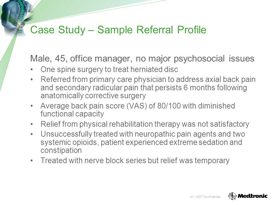 Case Study – Sample Referral Profile