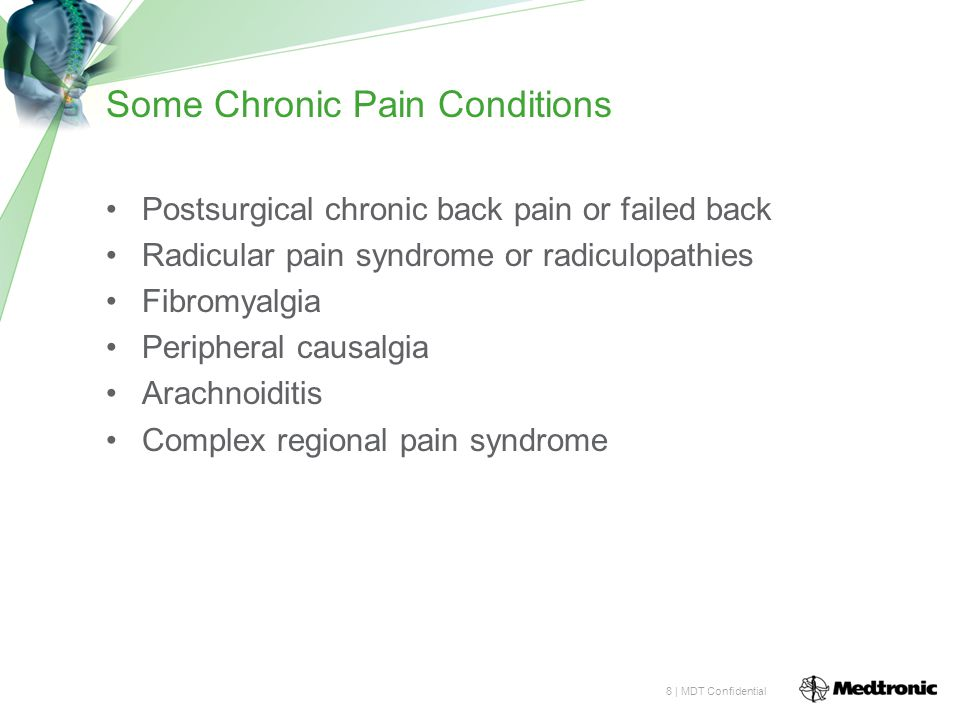 Some Chronic Pain Conditions