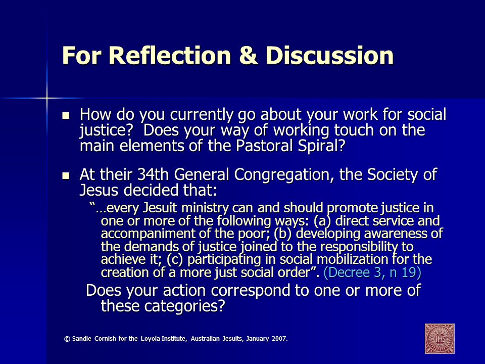 For Reflection & Discussion