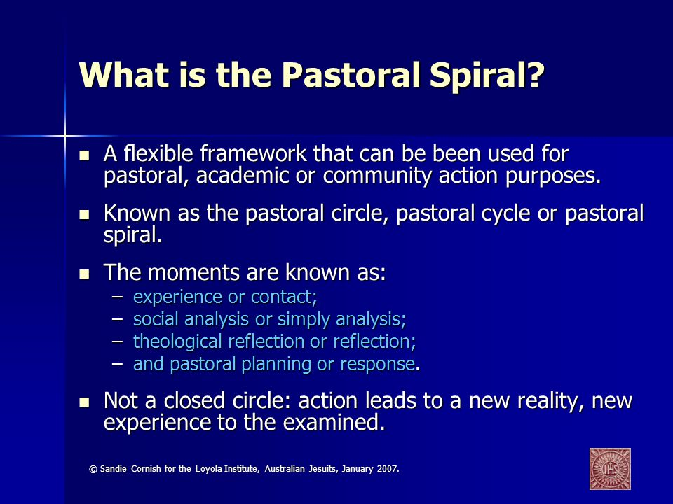 What is the Pastoral Spiral