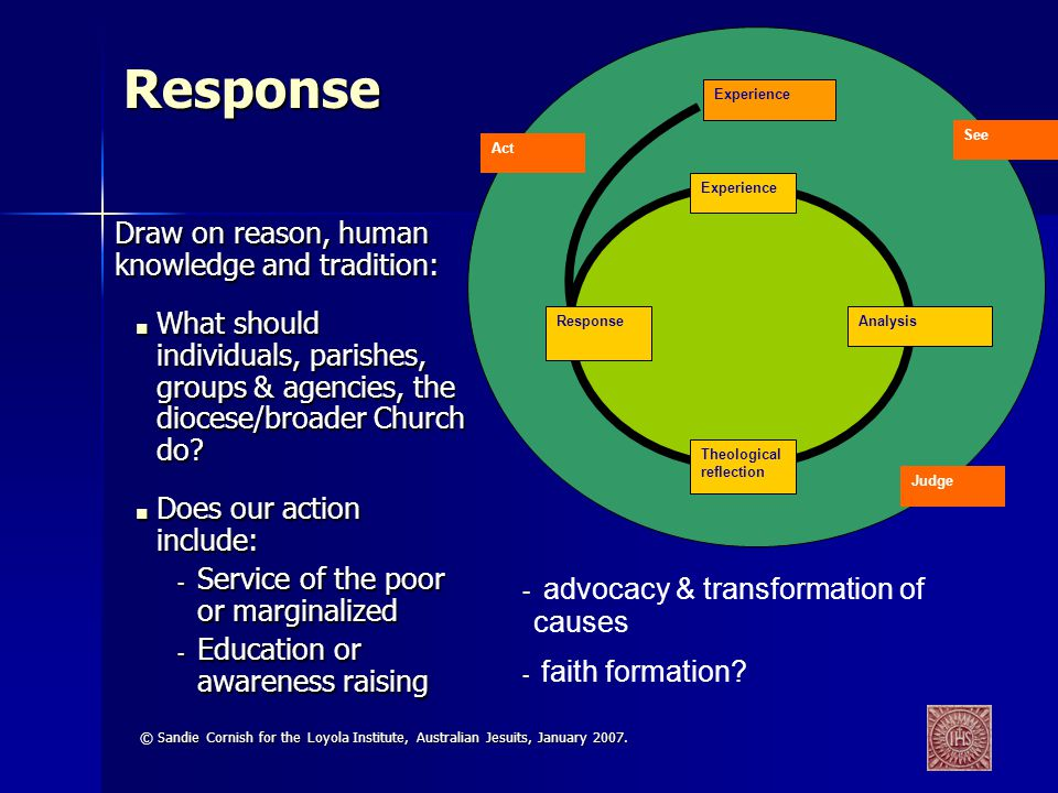 Response advocacy & transformation of causes