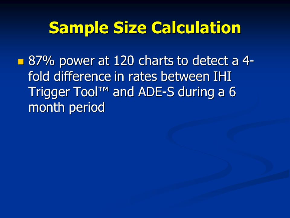 Sample Size Calculation