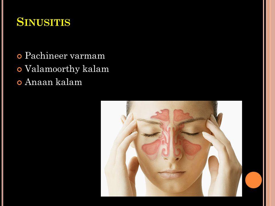 Sinusitis Pachineer varmam Valamoorthy kalam Anaan kalam