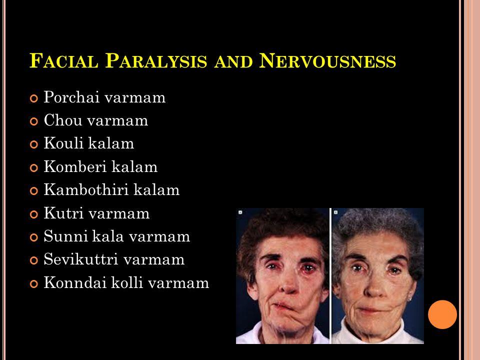 Facial Paralysis and Nervousness