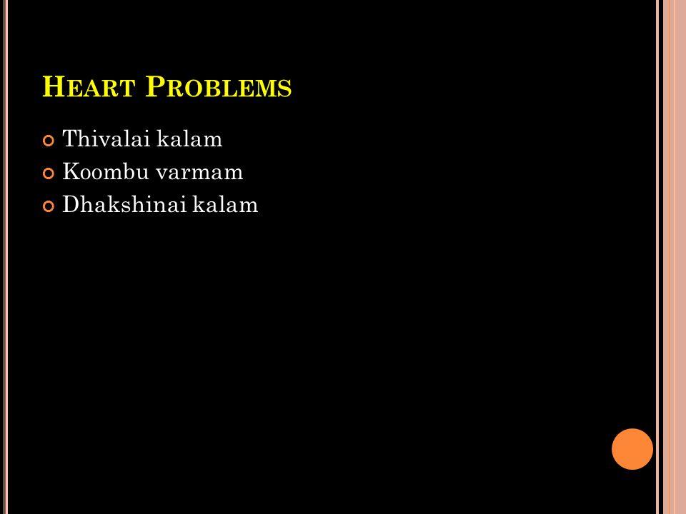 Heart Problems Thivalai kalam Koombu varmam Dhakshinai kalam