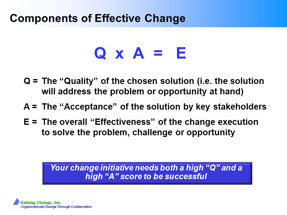 Components of Effective Change