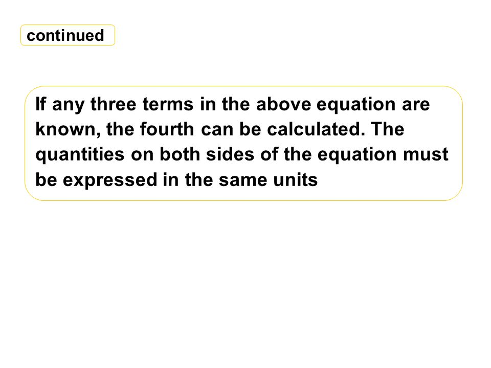 If any three terms in the above equation are