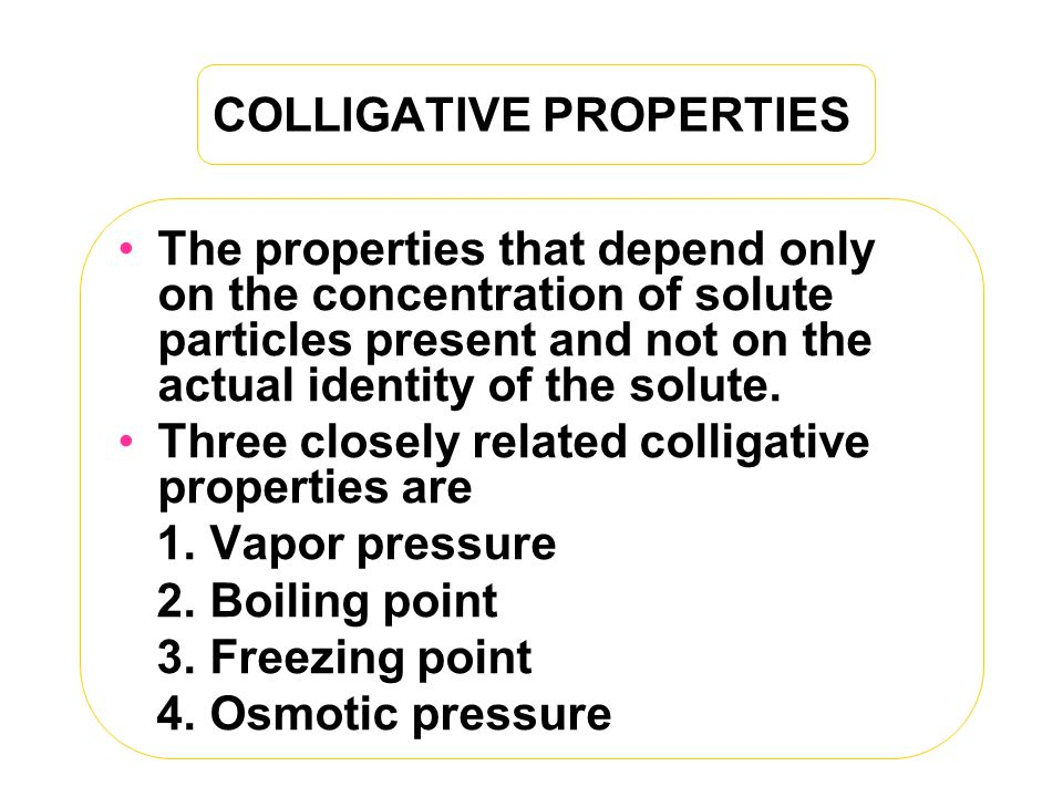 Colligative Properties Lab Report Answers