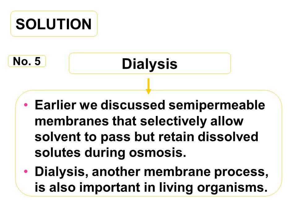 SOLUTION Dialysis. No. 5.
