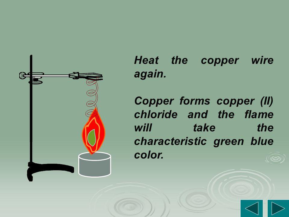 Heat the copper wire again.