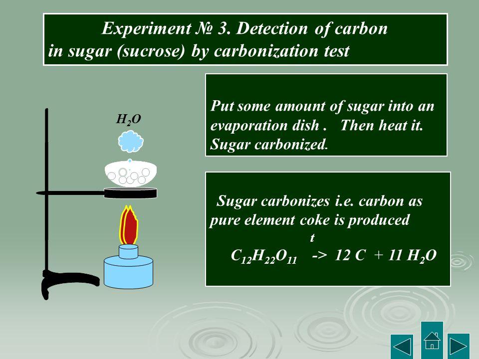 Experiment № 3. Detection of carbon