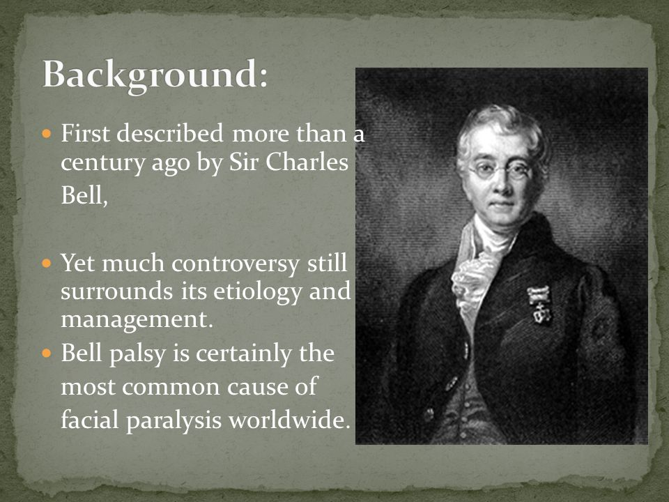 Background: First described more than a century ago by Sir Charles