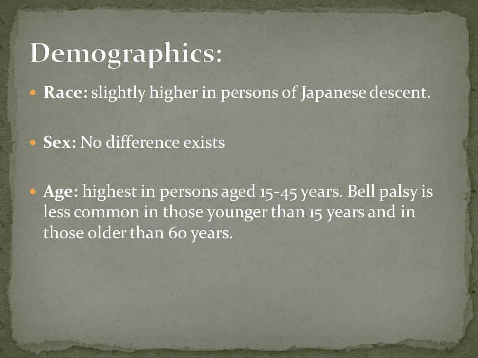 Demographics: Race: slightly higher in persons of Japanese descent.