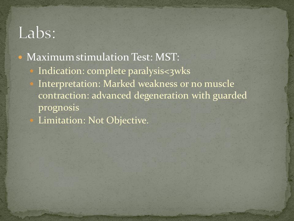 Labs: Maximum stimulation Test: MST: