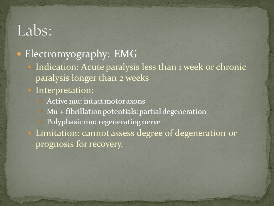 Labs: Electromyography: EMG