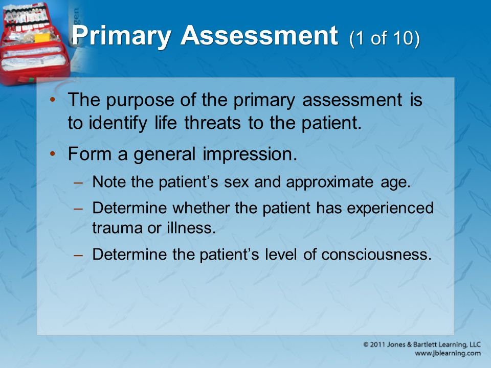Primary Assessment (1 of 10)