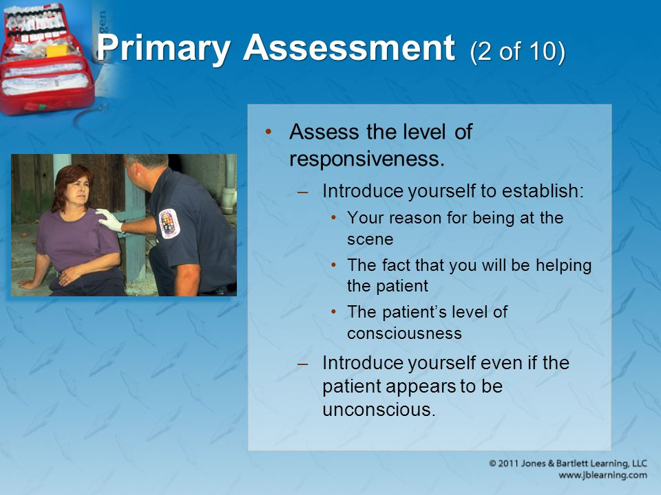 Primary Assessment (2 of 10)