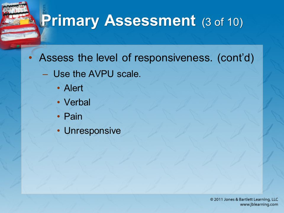 Primary Assessment (3 of 10)