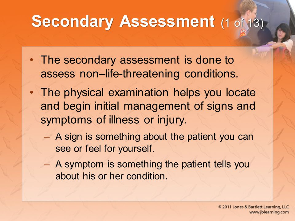 Secondary Assessment (1 of 13)