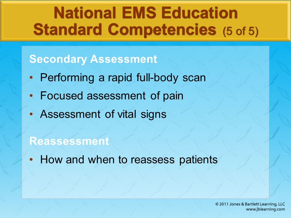 National EMS Education Standard Competencies (5 of 5)