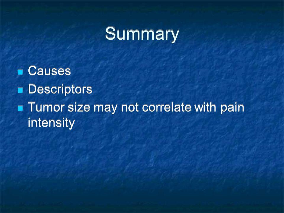 Summary Causes Descriptors
