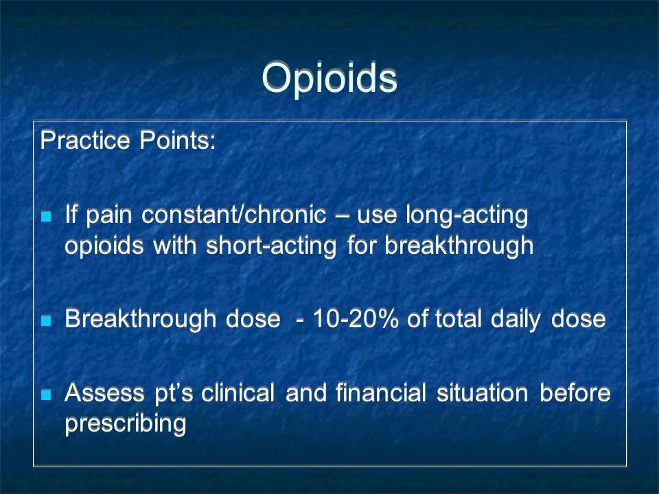 Opioids Practice Points: