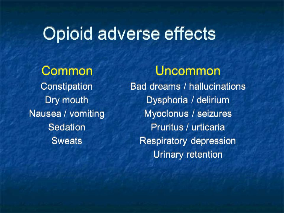 Opioid adverse effects