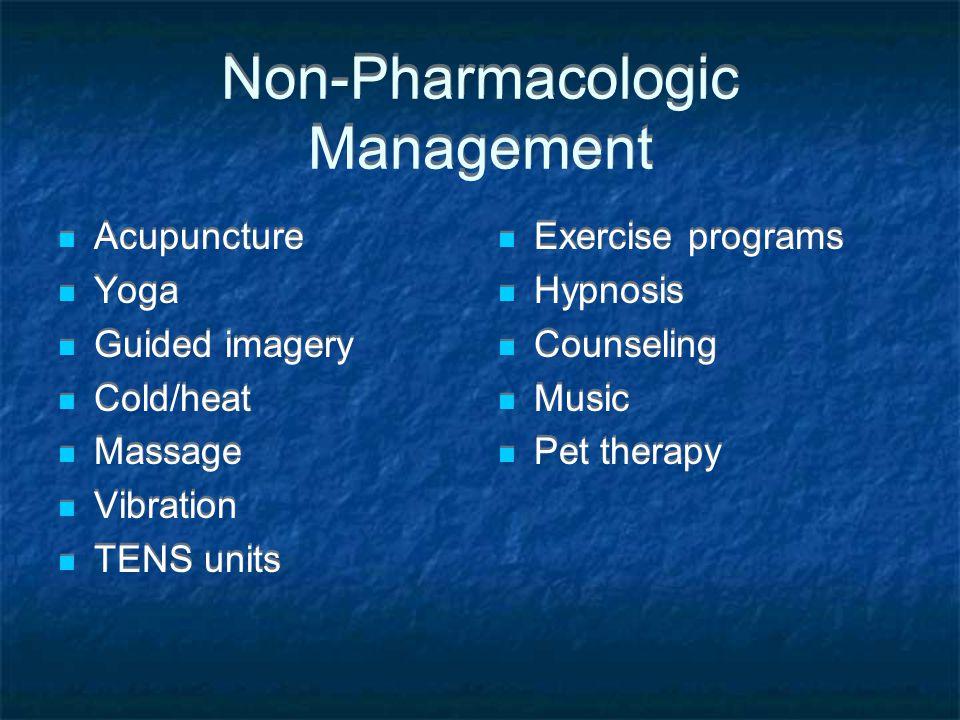 Non-Pharmacologic Management