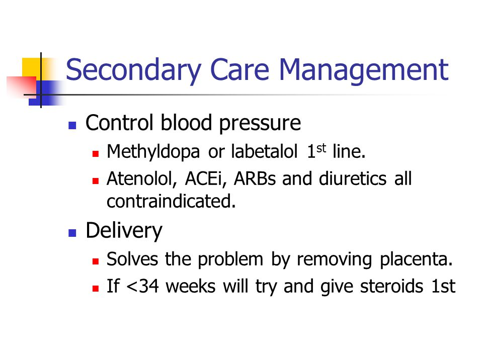 Secondary Care Management