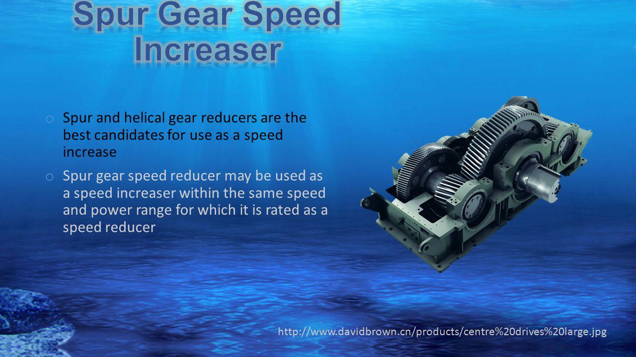 Spur Gear Speed Increaser