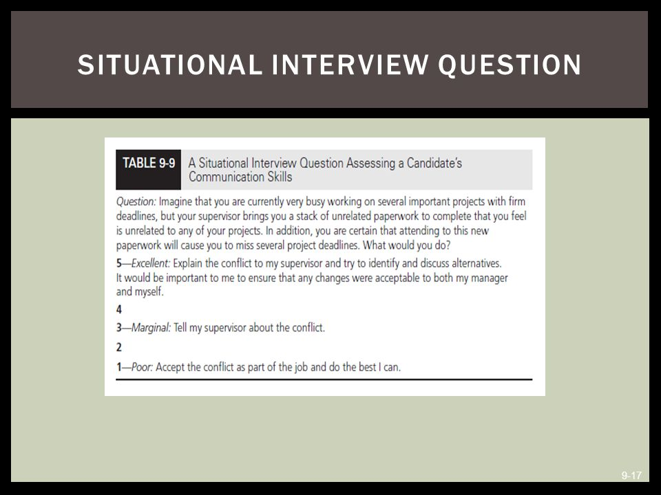 Situational Interview Question