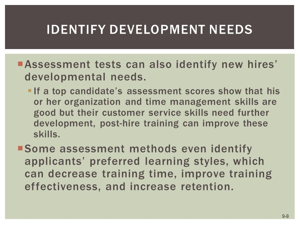 Identify Development Needs