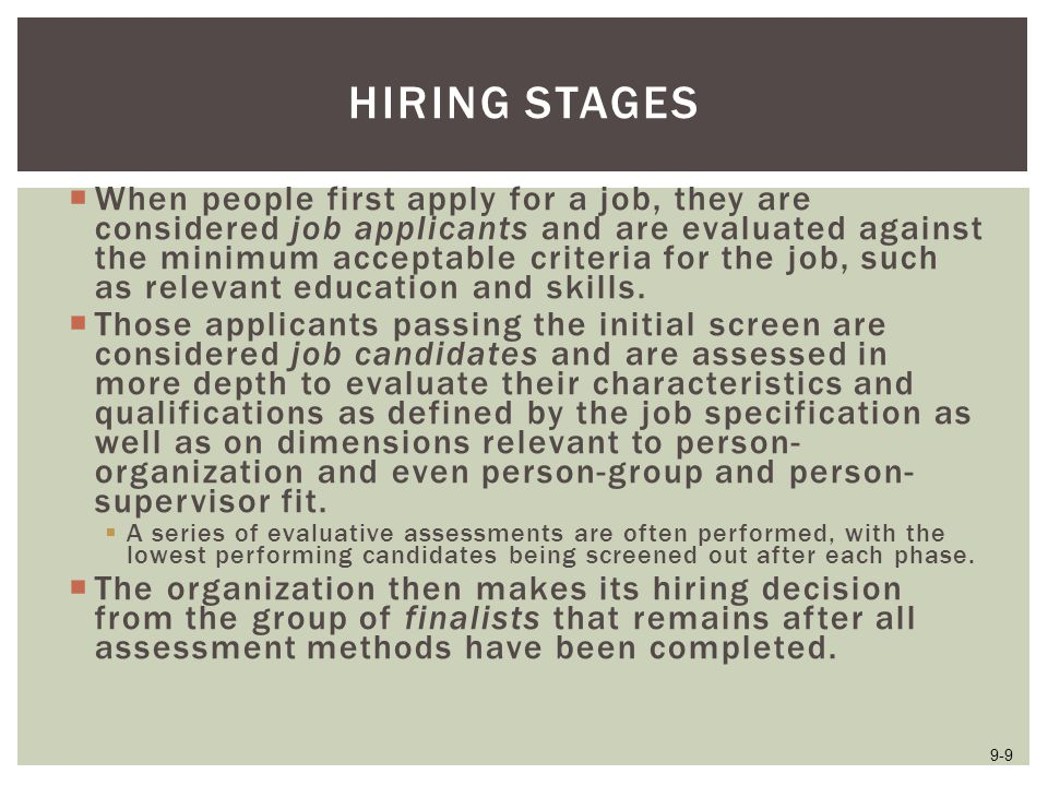 Hiring Stages