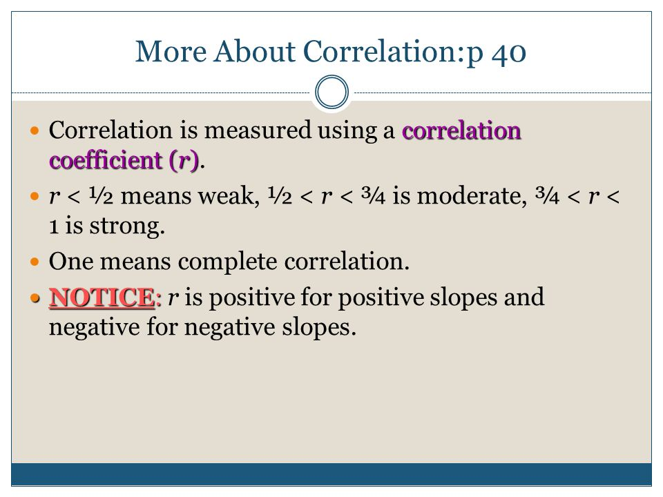 More About Correlation: p 40