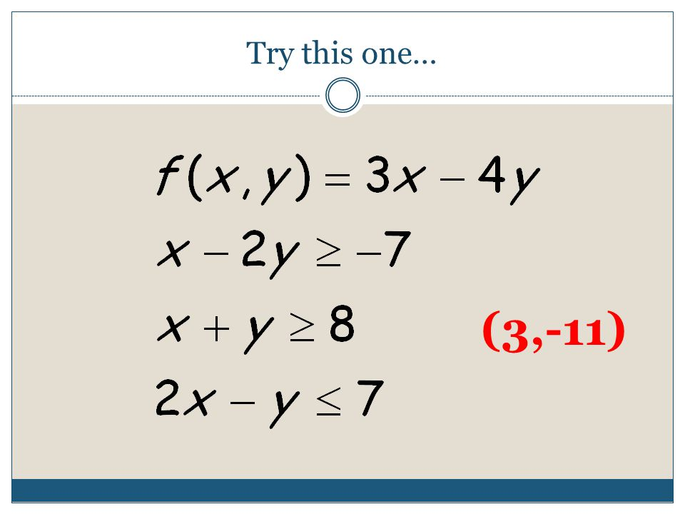 Try this one… (3,-11)