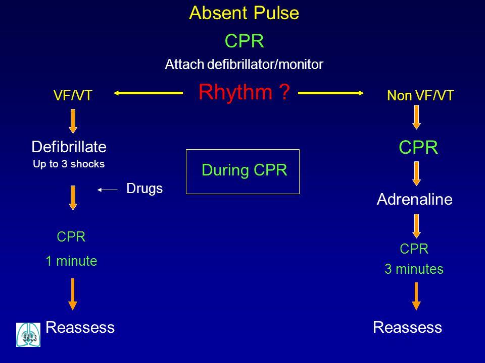 Attach defibrillator/monitor