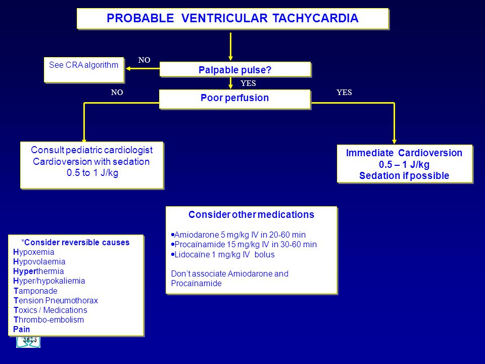 PROBABLE VENTRICULAR TACHYCARDIA Immediate Cardioversion
