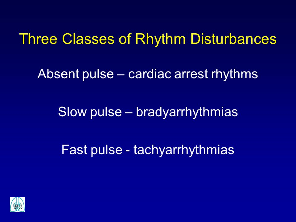 Three Classes of Rhythm Disturbances