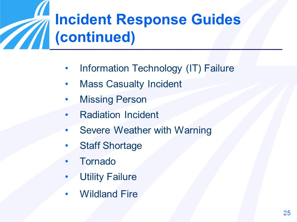 Incident Response Guides (continued)